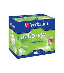 CD-RW 4X Verbatim Caja Jewel 10 UNDS