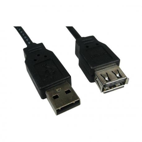 CABLE ALARGADOR USB NANOCABLE 10.01.0204-BK - Imagen 1