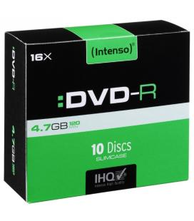 Intenso DVD-R 4.7GB, 16x 4.7GB DVD-R 10pieza(s)
