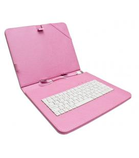 "Funda Tablet Teclado 9"" Rosa"