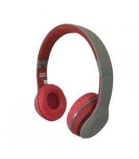 Omega Freestyle casco Bluetooth FH0915GR Gris/Rojo
