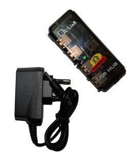 Hub 4 Puertos USB 2.0, Plug & Play+Alimentación L-LINK - Imagen 1