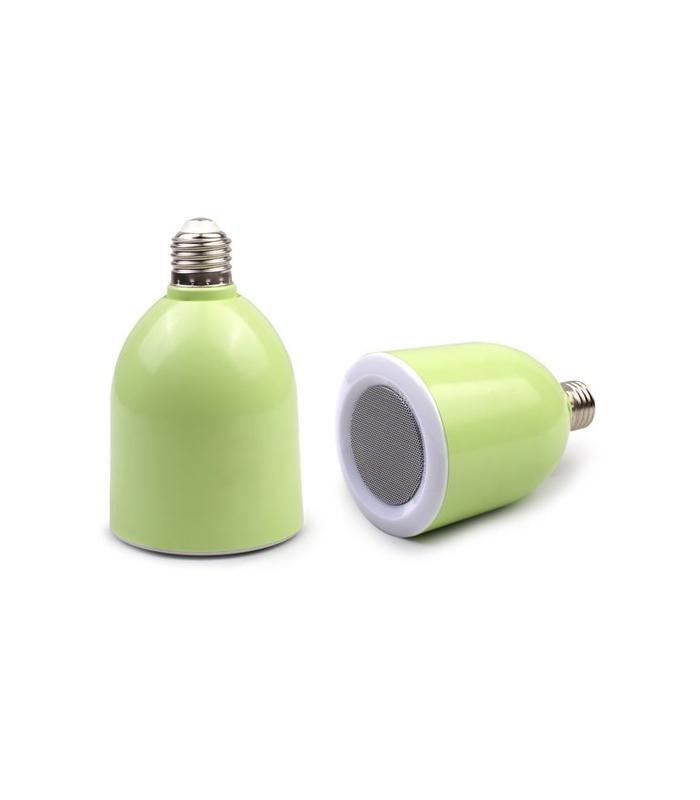 Lampara led altavoz bluetooth verde for Lampara altavoz bluetooth