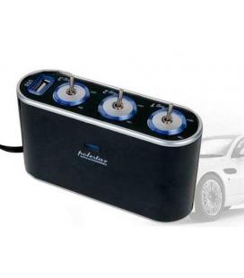Cargador Mechero Triple Switch USB
