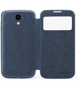 Funda Rock tipo libro con ventana para el Galaxy S4 I9500 azul