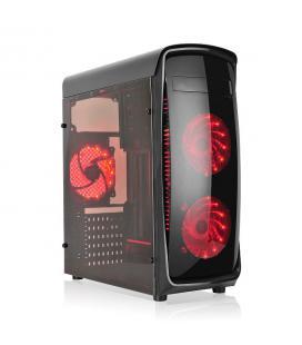 L-Link KAZUMI Torre Negro, Transparente carcasa de ordenador - Imagen 1