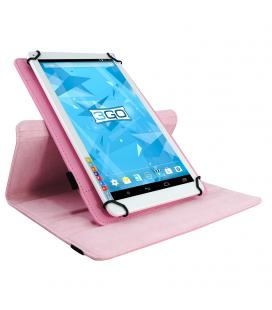 Funda universal 3go csgt19 rosa - para tablets 10.1'/25.6cm - soporte rotatorio - cierre elástico