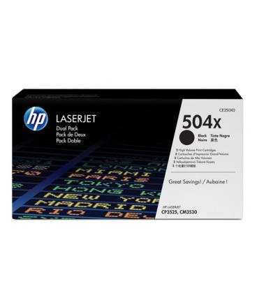 PACK 2 TONER HP 504X LASERJET NEGRO (CE250XD) - Imagen 1