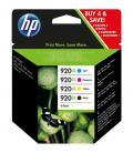 HP Pack de ahorro de 4 cartuchos de tinta original 920XL de alta capacidad negro/cian/magenta/amarillo - Imagen 2