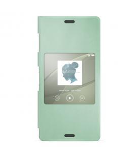 Funda verde con ventana para Sony Xperia Z3