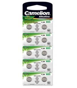 Pila Botón Alcalina LR48 1.5V 0% Mercurio (10 pcs) Camelion