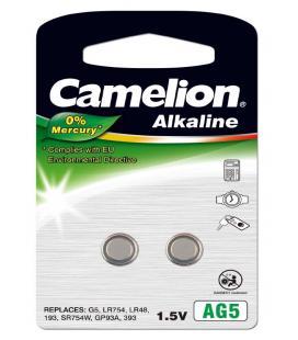 Pila Botón Alcalina LR48 1.5V 0% Mercurio (2 pcs) Camelion