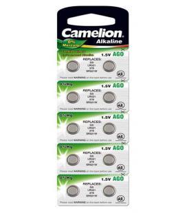 Pila Botón Alcalina LR63 1.5V 0% Mercurio (10 pcs) Camelion