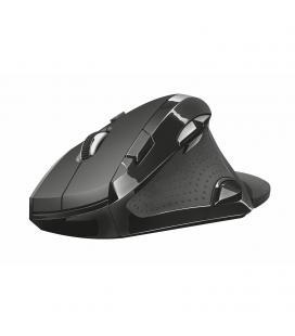 Ratón inalámbrico ergonómico trust vergo - diseño vertical 60º - reposamuñecas extraible - 9 botones - 800-2400ppp