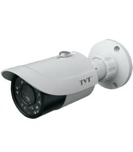 Cámara IP Bullet TVT 2Mpx 1080p. lente varifocal 2,8 a 12mm .IR 30m . POE