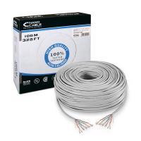 Bobina de cable nanocable 10.20.0302 - rj45 - cat5e - utp - awg24 - 100m - gris