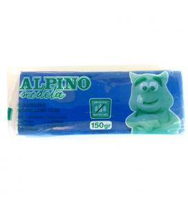 Plastilina 150 gramos azul sin gluten - alpino modela modelling clay