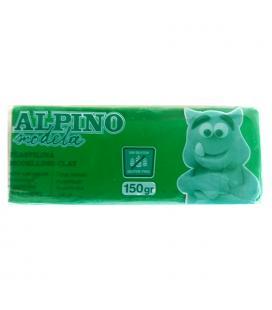 Plastilina 150 gramos verde sin gluten - alpino modela modelling clay