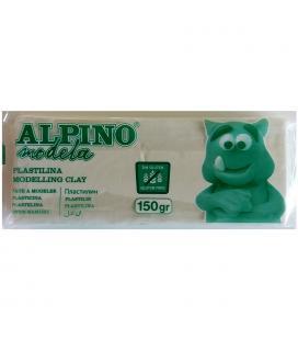 Plastilina 150 gramos blanca sin gluten - alpino modela modelling clay