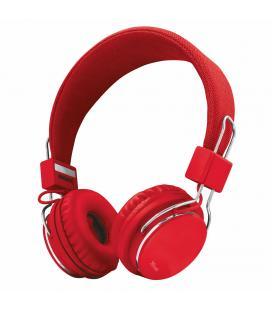 Auriculares trust urban ziva red - plegables - micrófono integrado - mando a distancia en cable - diadema ajustable - clavija