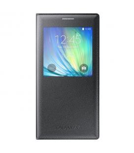 Funda de piel tipo libro S-View Samsung Galaxy A7 EF-CA700BCEGWW negro