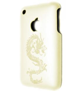 Funda Blanca con Dragon para iPhone 3G