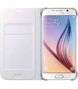 Funda Samsung Flip wallet blanca EF-WG925PWEGWW para Galaxy S6 Edge