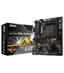 PLACA MSI A320M PRO-VH PLUS,AMD,,2DDR4,32GB,VGA+HDMI,4SATA3,4USB3.1,MATX