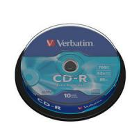 CD-R VERBATIM 700MB 52X EXTRA PROTECTION 10UNDS