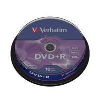 DVD+R VERBATIM 4.7 GB 120MIN16X 10 UNIDADES