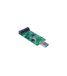 Tarjeta Adaptador/Conversor Mini PCI-E mSATA a USB 3.0 - Imagen 1