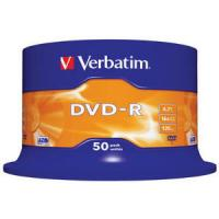 Dvd-r verbatim advanced azo 16x 4.7gb tarrina 50 unidades