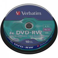 Dvd-rw verbatim serl 4x 4.7gb tarrina 10 unidades