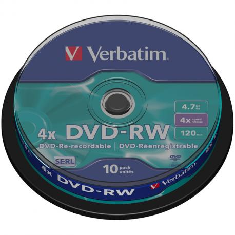 DVD-RW VERBATIM SERL 4X 4.7GB - Imagen 1