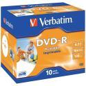 DVD-R VERBATIM IMPRIMIBLE PACK 10 - Imagen 1
