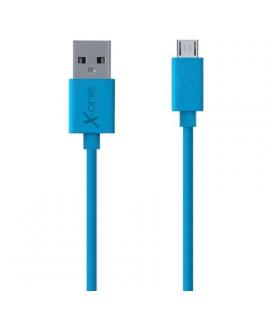X-One CPM1000BL Cable micro-USB plano Azul