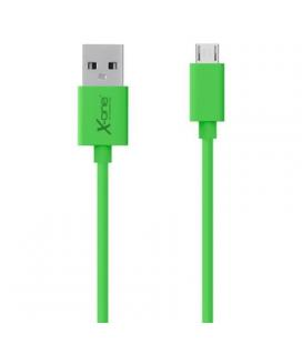 X-One CPM1000GR Cable micro-USB plano Verde