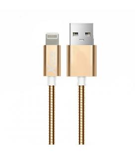 X-One CML1000G Cable USB metal iPhone Oro Rosa