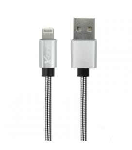 X-One CML1000S Cable USB metal iPhone Plata