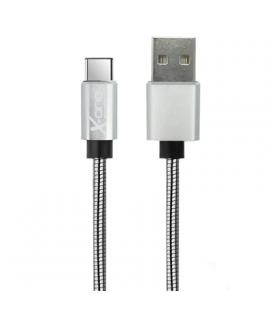 X-One CMC1000S Cable USB metal Tipo-C Plata
