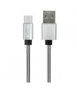 X-One CMM1000S Cable USB metal Micro Plata