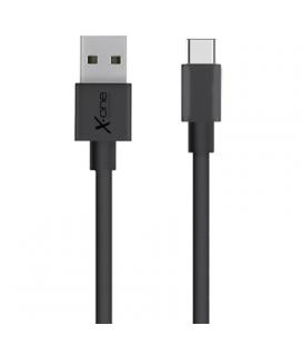 X-One CPC1000B Cable USB Tipo-C plano Negro