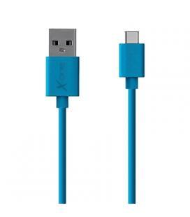 X-One CPC1000BL Cable USB Tipo-C plano Azul