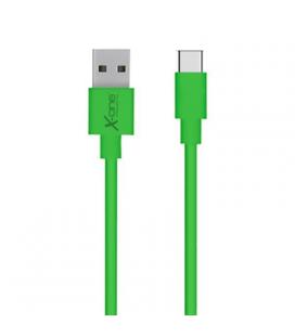 X-One CPC1000GR Cable USB Tipo-C plano Verde