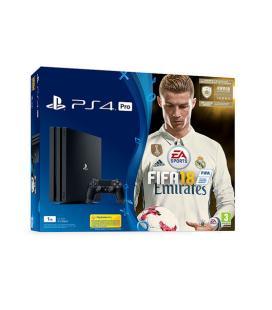 VIDEOCONSOLA SONY PS4 PRO 1TB+ FIFA 18+PS PLUS 14D - Imagen 1