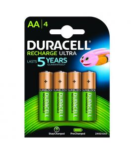 Pack 4 pilas aa recargables duracell hr06-p - nimh - 1.2v - 2500mah - precargadas listas para utilizar