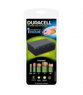 Cargador de pilas duracell cef22-eu - carga 4 pilas simultaneas tipo aa/aaa/c/d o 1x9v - indicador carga - no incluye pilas