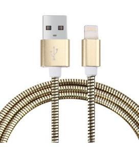 Cable USB a Lightning 8 Pines (Carga & Transferencia) Metal Oro 1m Biwond