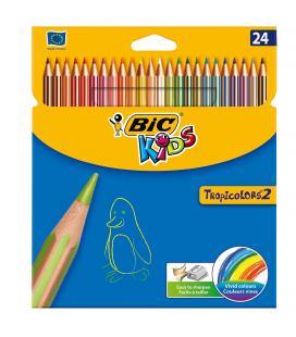 Lápices de colores tropicolors 2 bic kids - caja 24 unidades