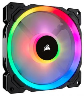 VENTILADOR CAJA CORSAIR LL120 RGB 120MM DUAL LIGHT LOOP RGB LED PWM FAN 3 FAN PACK CON LIGHTING NODE - Imagen 1